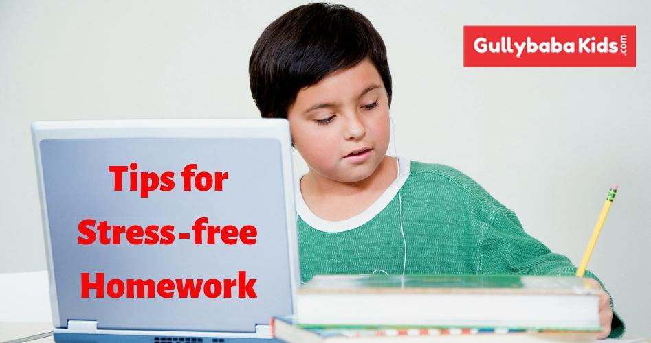 Tips for Stress Free Homework for Kids