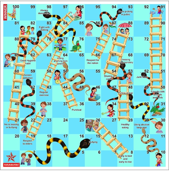 """Snake and Ladders "" game is very old"