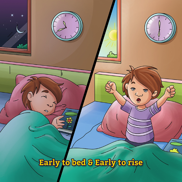 """""""Benefits of Early Rising"""" Puzzle Games is available on Gullybabakids.com"""
